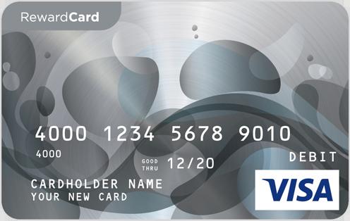 OneOpinion Reward Details Visa gift card, Prepaid gift