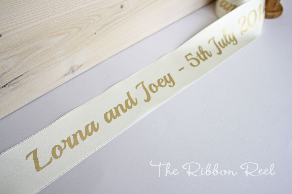 Personalised Wedding Ribbons