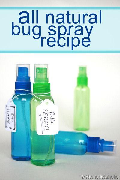 Homemade natural bug spray recipe