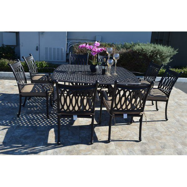 Cast Aluminum Is An Ideal Material For Outdoor Patio Furniture It Is Strong Non Rusting Lightweight An Outdoor Dining Set Rectangular Dining Set Dining Set