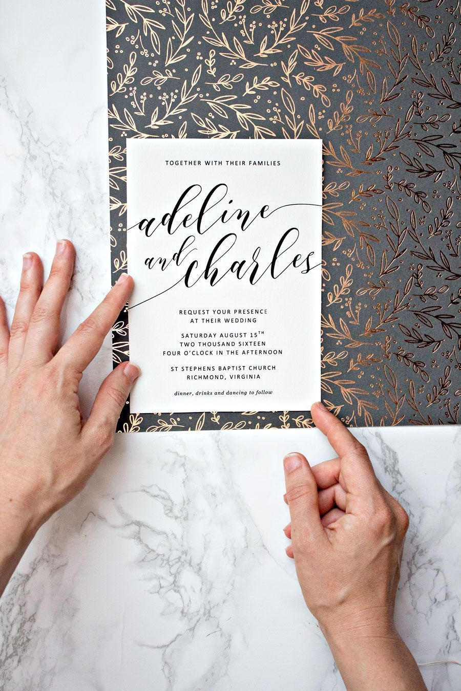 To spruce up your printable wedding invitations, we recommend adding ...