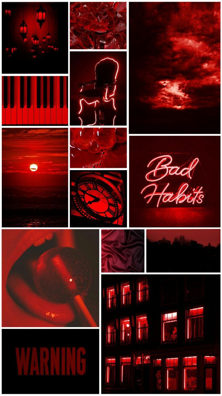 Aesthetics For You Red images, Red aesthetic, Color collage