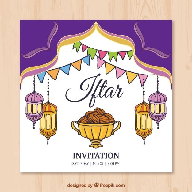 Hand drawn iftar invitation with lanterns free vector my freepik hand drawn iftar invitation with lanterns free vector stopboris Image collections