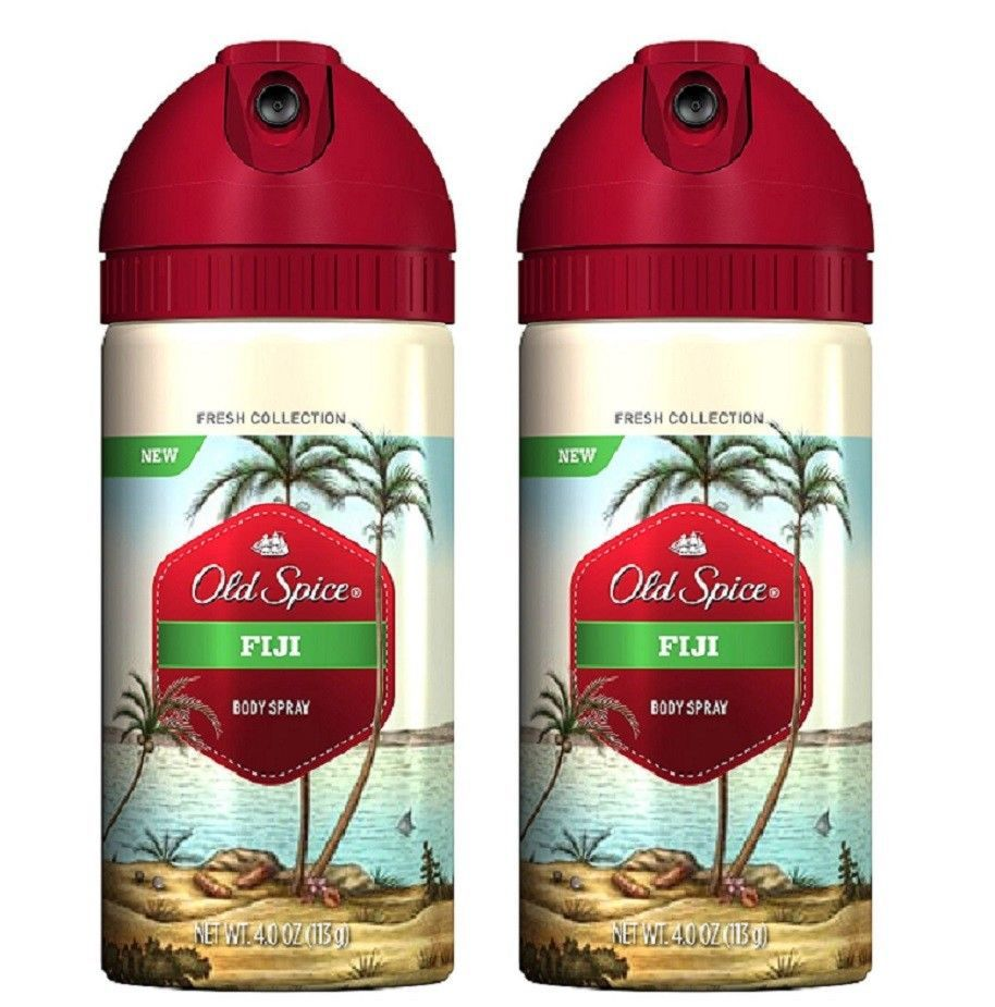2 Original Old Spice Fresh Collection Figi Body Spray Free Shipping Uss New Htf Oldspice With Images Body Spray Old Spice