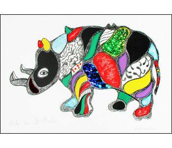 """Niki de Saint Phalle, """"Rhino"""""""