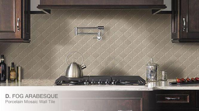 Fog Arabesque Tile Backsplash Home Depot Arabesque Tile