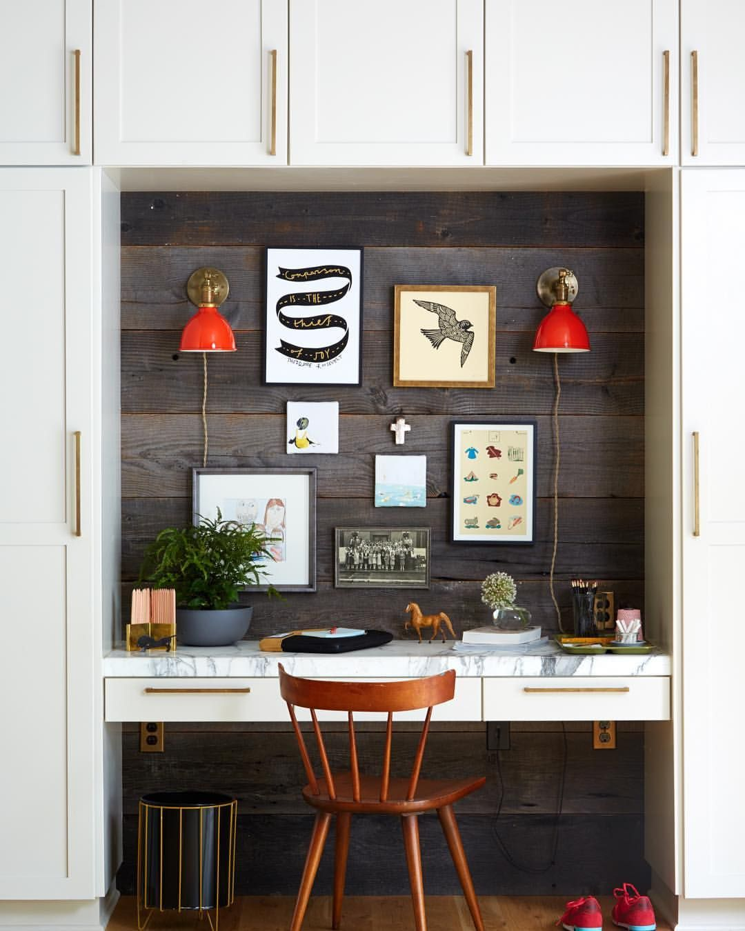 kitchen office nook. Find Stylish Small Office Nooks And Clever Space Ideas! Learn How To Carve Out For A Work Station In Your Home. Kitchen Nook N
