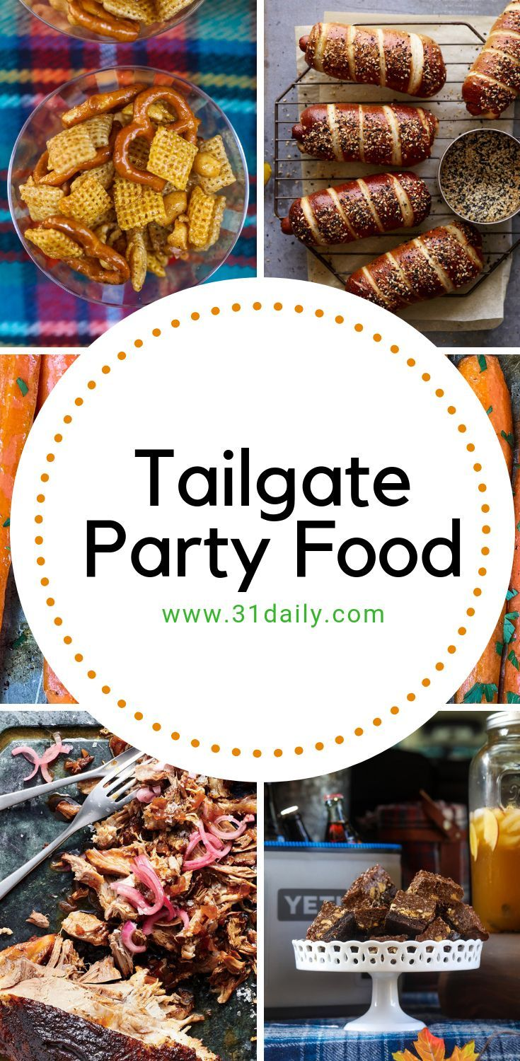 Amazing Tailgate Party Foods for Football Season #footballpartyfood