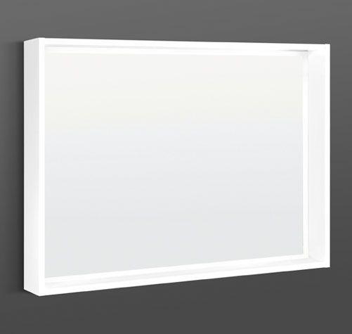 Spegel med ram och belysning i LED | Spegel, Belysning, Ramar