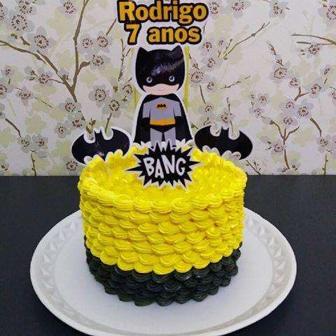 Bolo Batman Chantininho Ninhoebrigadeiro Bolodacris