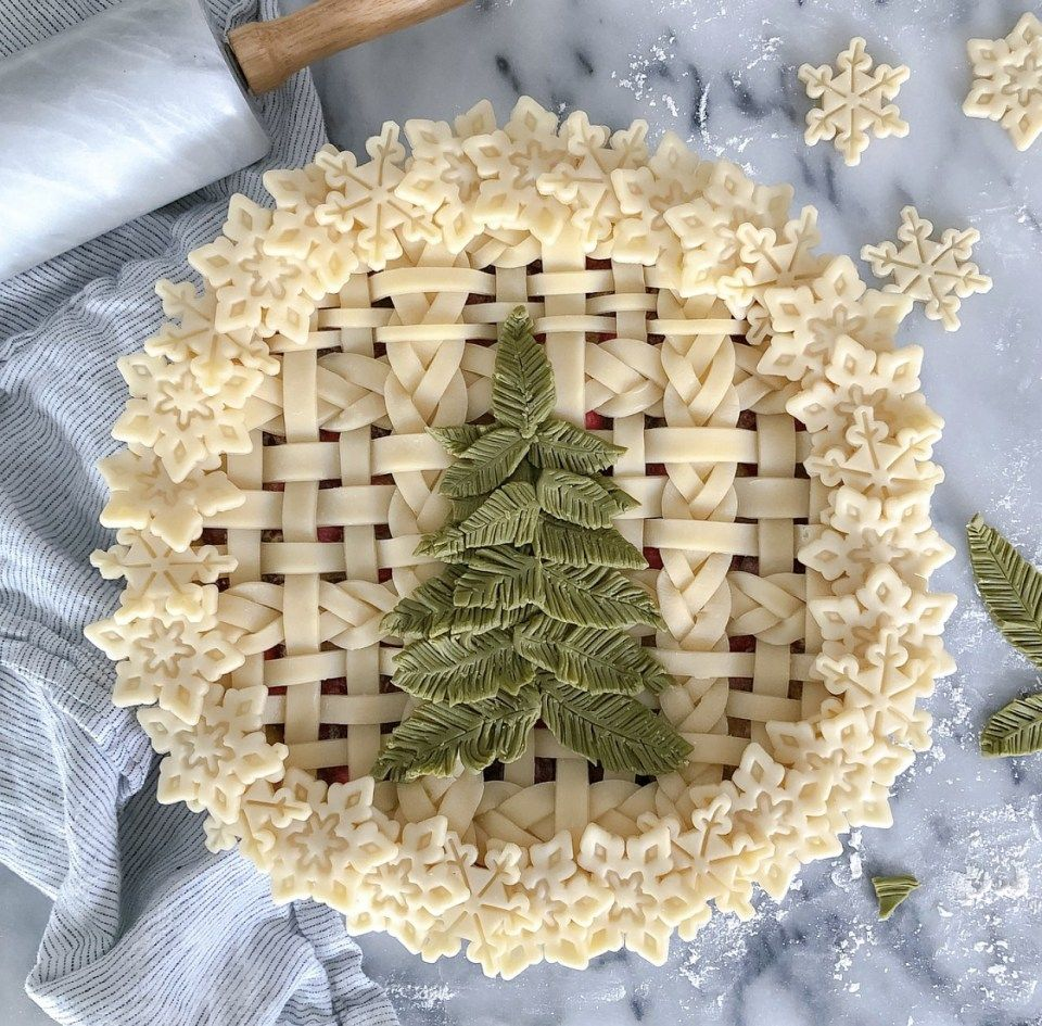How to Create Colorful Pie Crust | Pie decoration ...
