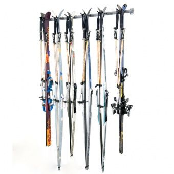 Cross Country Ski Rack Holds 6 Skis Poles Wall Mounted Ski Storage Ski Rack Monkey Bar Storage