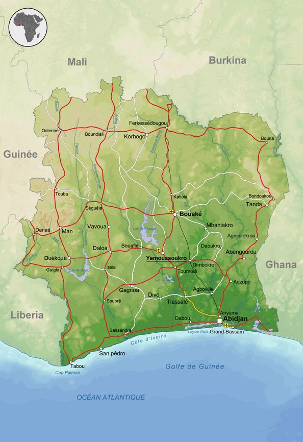 Geographie Carte Afrique Pays Afrique Afrique