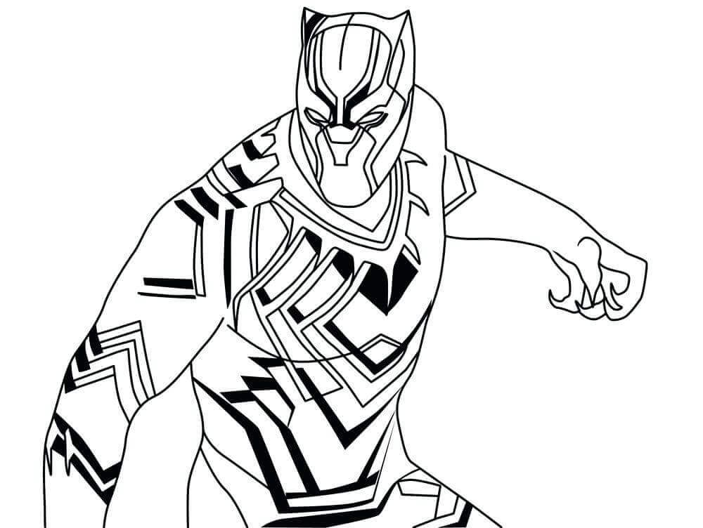 Black Panther Colouring Pages Superhero Coloring Pages Black Panther Drawing Black Panther Comic