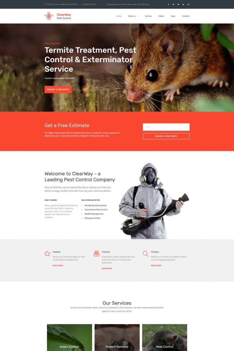 moto cms 3 theme clearway pest control premium
