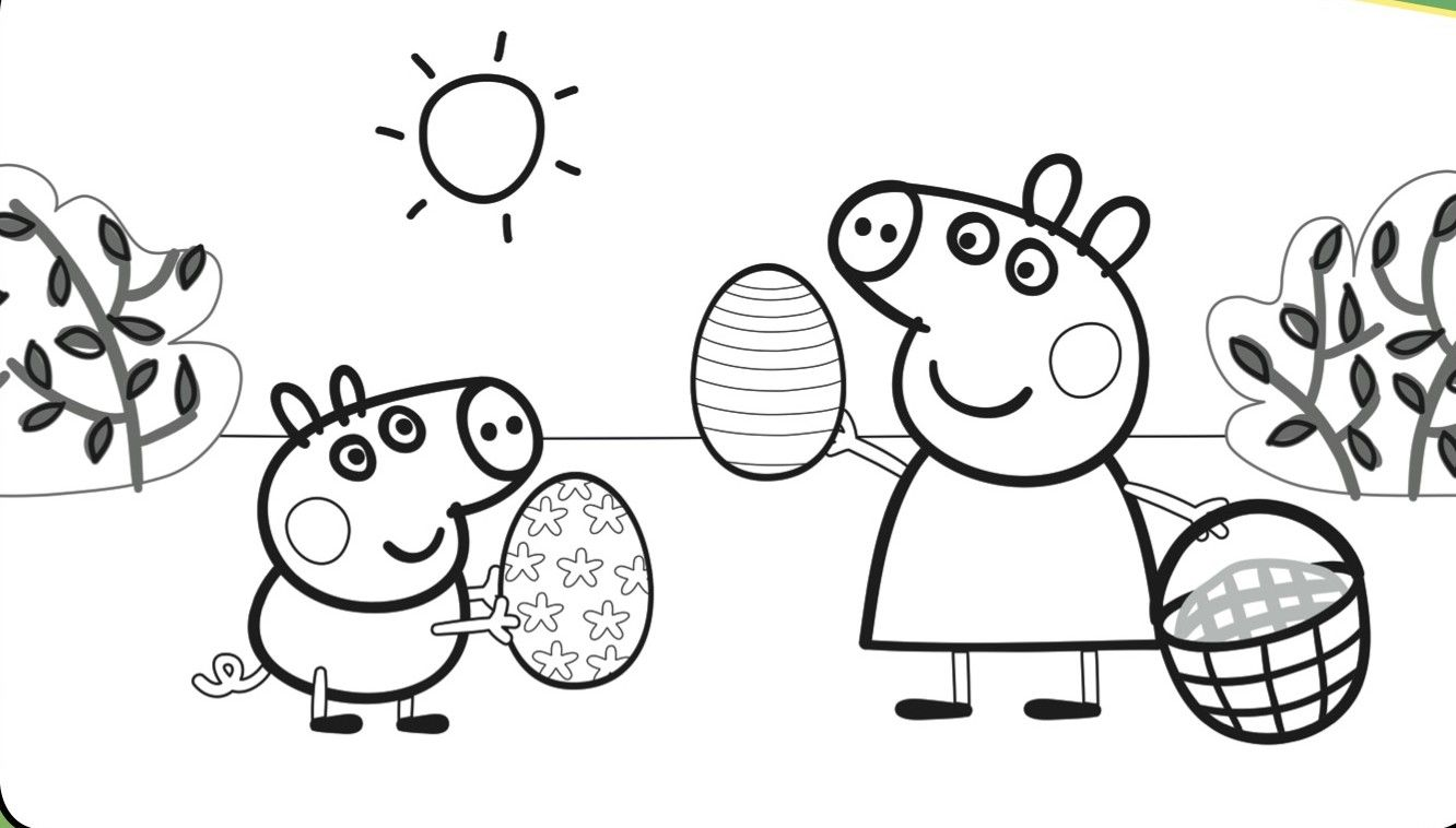 Peppa Pig Coloring Pages Peppa And George Sleeping In Coloring Pages ...