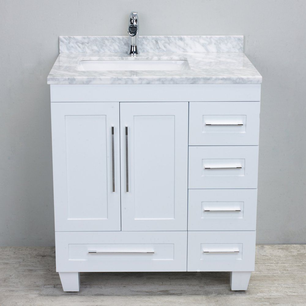 Eviva loon in single sink bathroom vanity white for the home