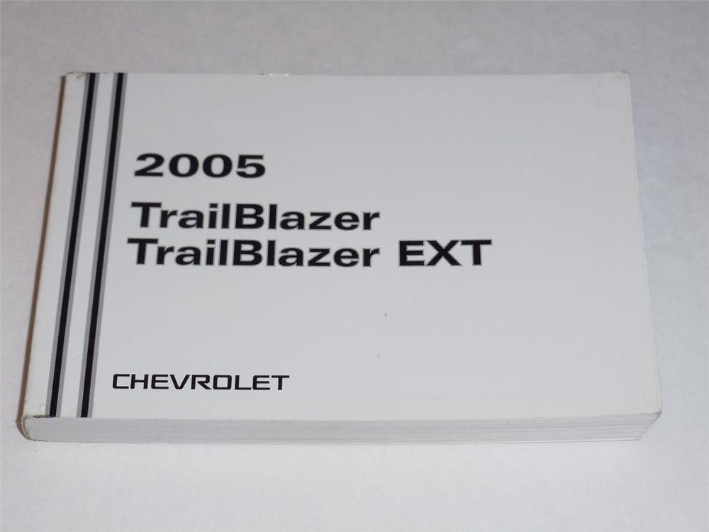 2005 Chevrolet Trailblazertrailblazer Ext Owners Manual Book