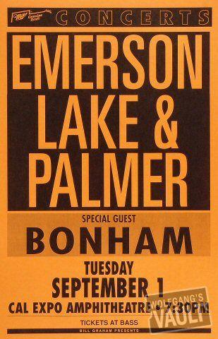 emerson lake palmer | music posters | Vintage concert