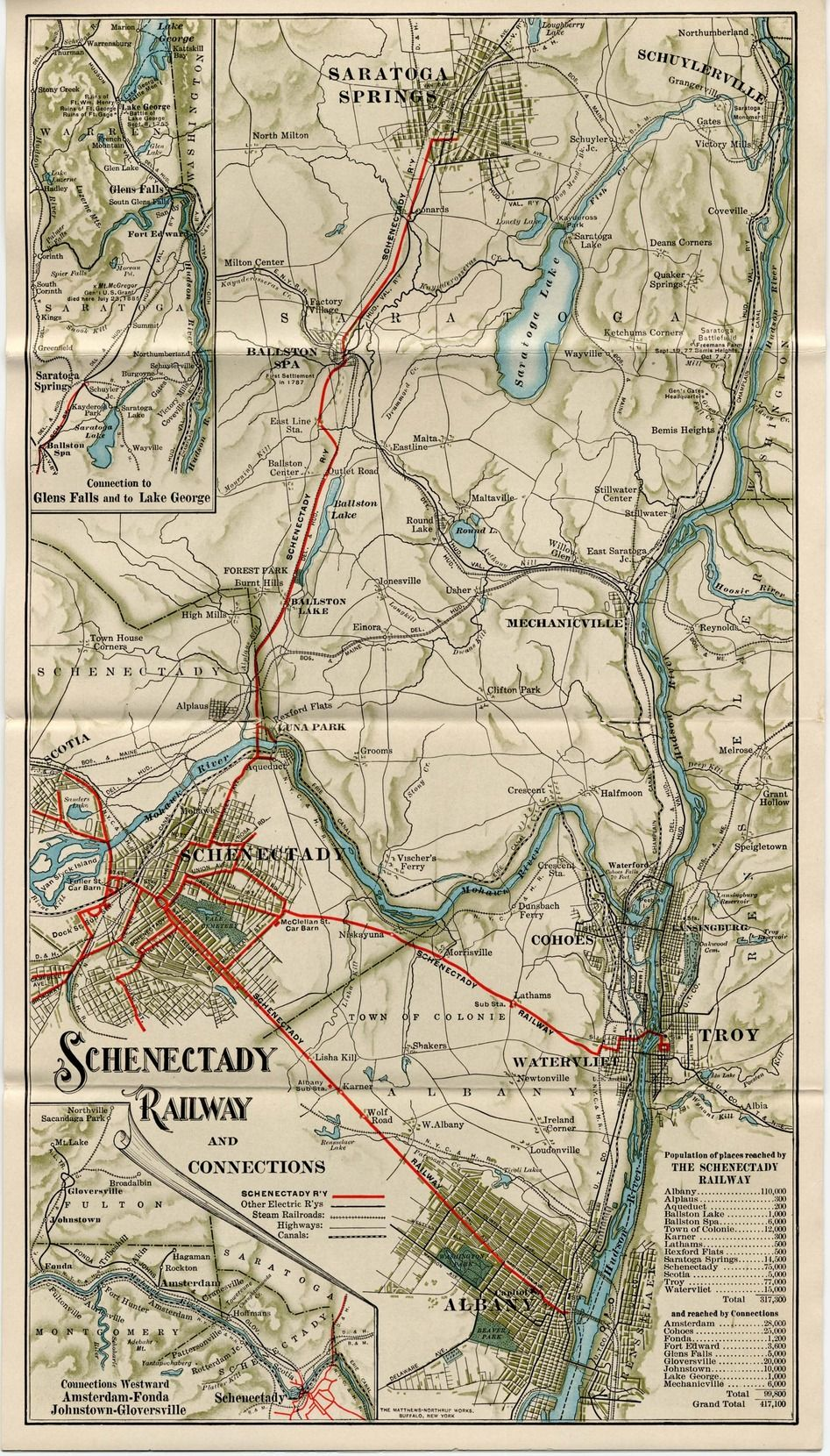 Schenectady Railway and Connections map from 1910s Maps Pinterest