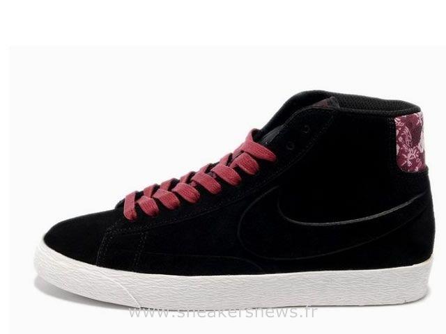 magasin d'usine 08b58 be918 Nike Blazer Suede Haute femmes VT Noir Bourgogne Blazer ...