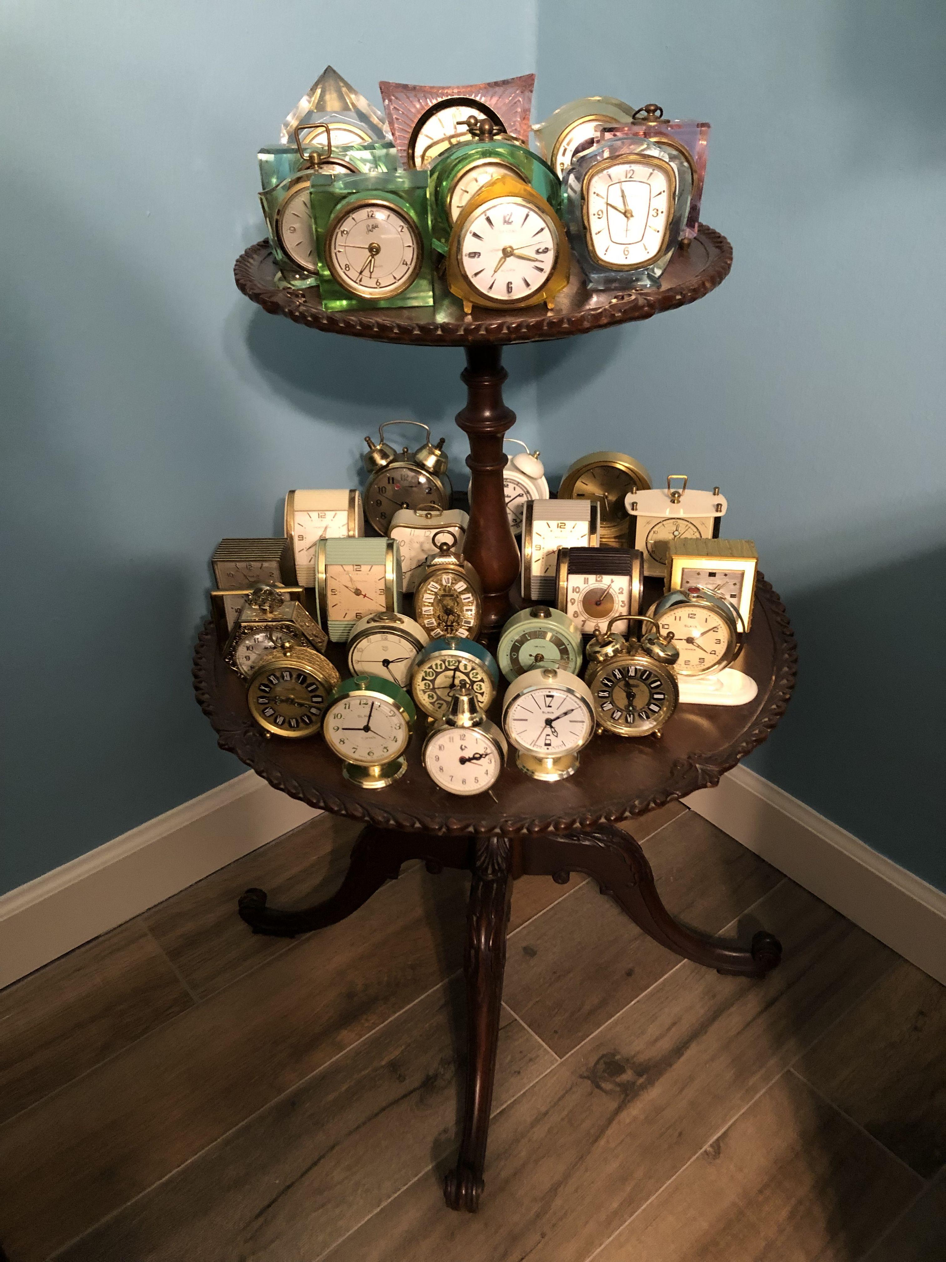 Pin on Vintage windup travel alarm clocks