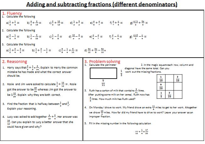 fractions mastery worksheets worksheets ks2 maths and math. Black Bedroom Furniture Sets. Home Design Ideas