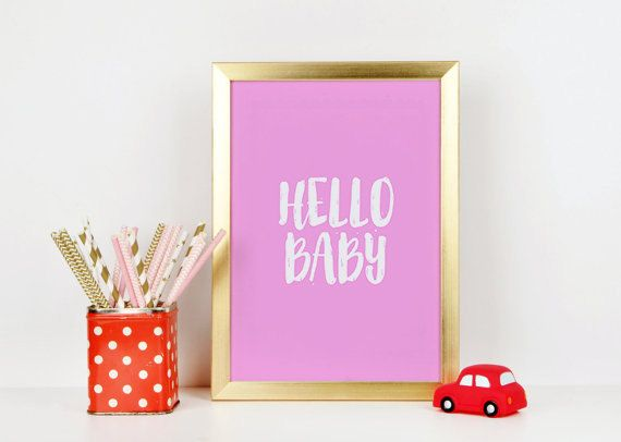 Girls Room Decor Baby Girl Gift Girly Gifts by BellaMeDesign