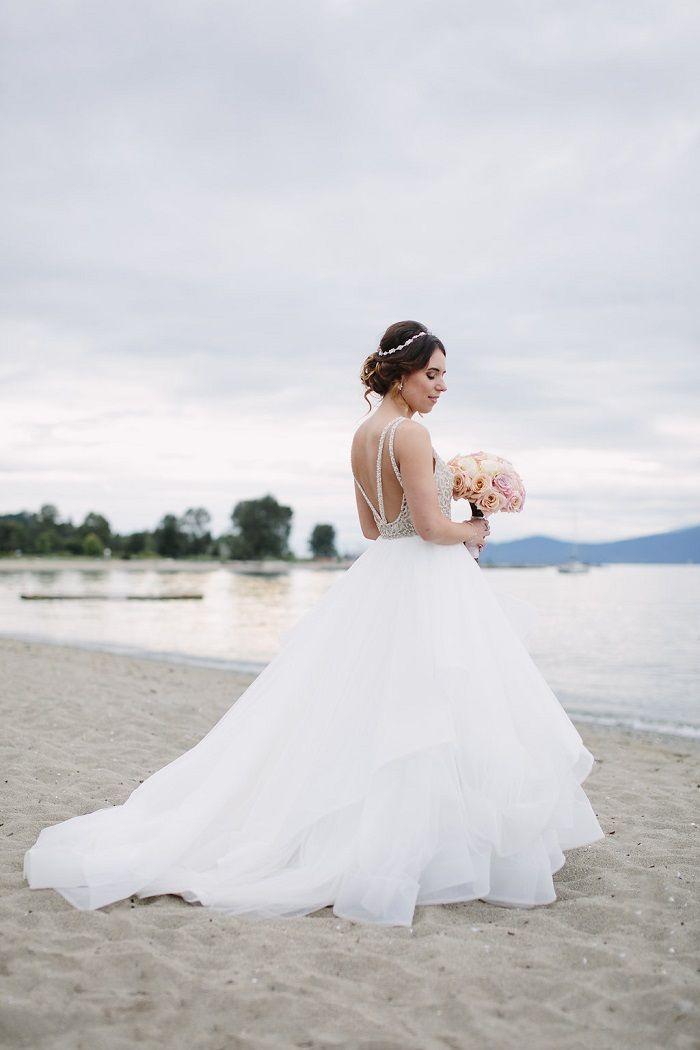 Bride in Platinum Hayley Paige wedding gown   fab mood