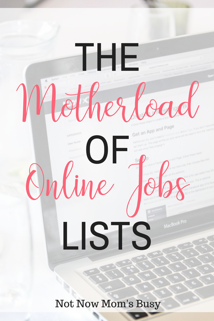 The Motherload of Online Jobs Lists | Business, Extra money and Hustle