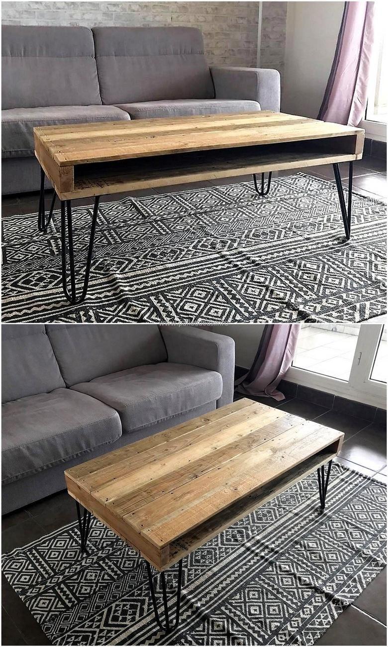 Reclaimed Pallet Table Pallettable Pallet Decor Wood Pallets Pallet Furniture