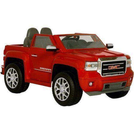 rollplay gmc sierra truck 6 volt battery powered ride on. Black Bedroom Furniture Sets. Home Design Ideas