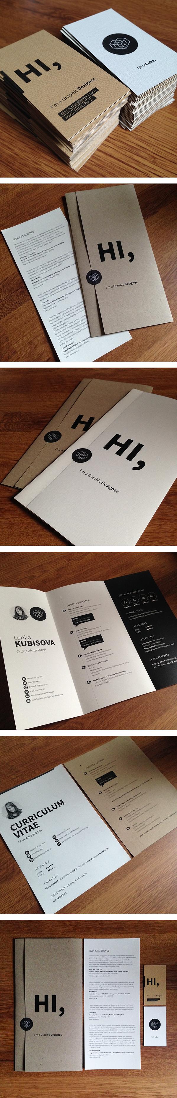Graphic Designer Resume Business Cards By Lenka Kubisova