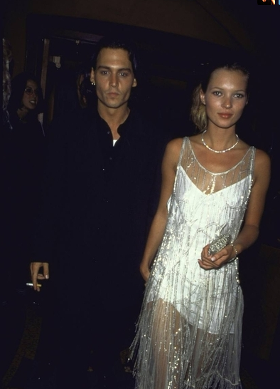 Kate Moss and Johnny Depp #90s