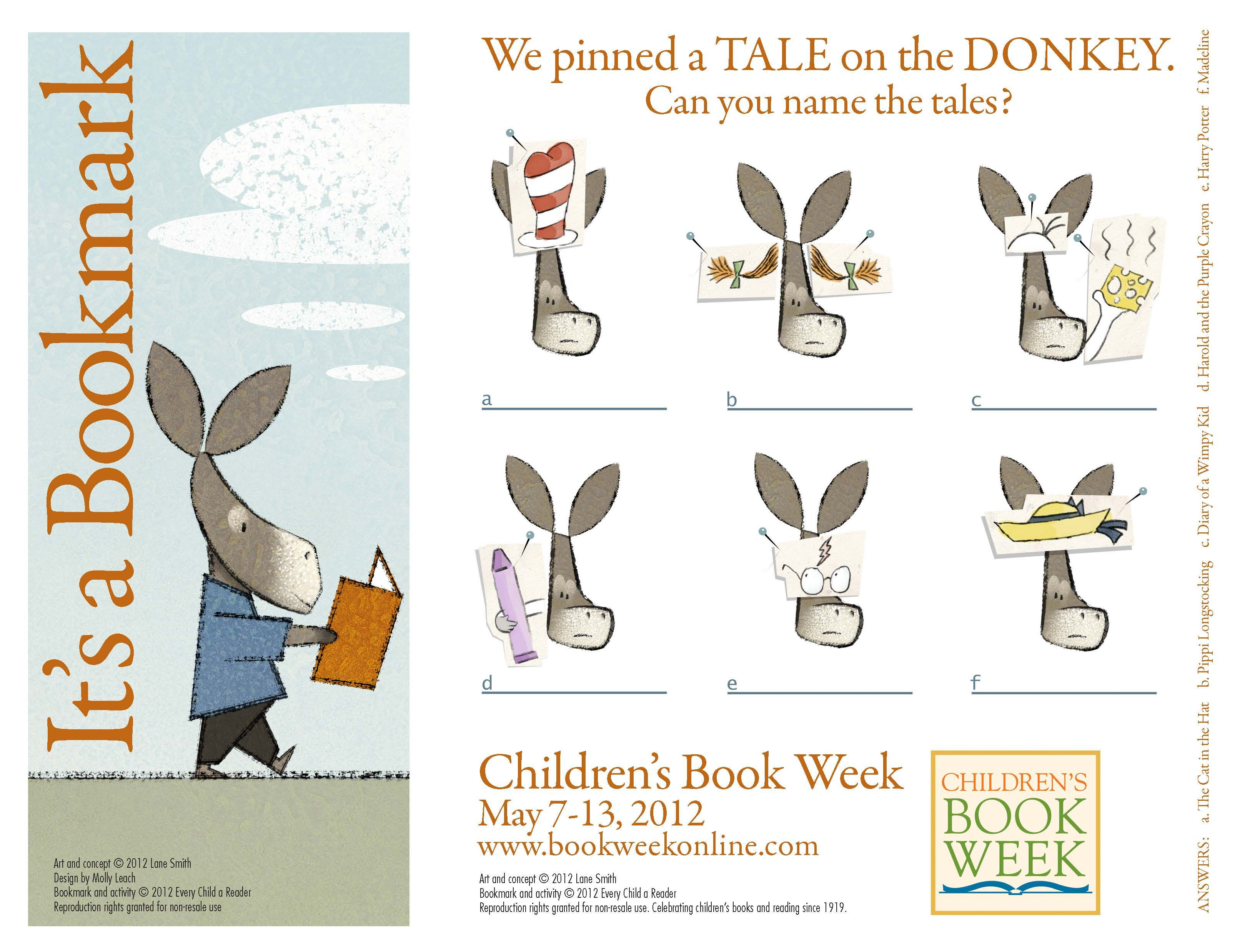 Official Children S Book Week Bookmark By Lane Smith
