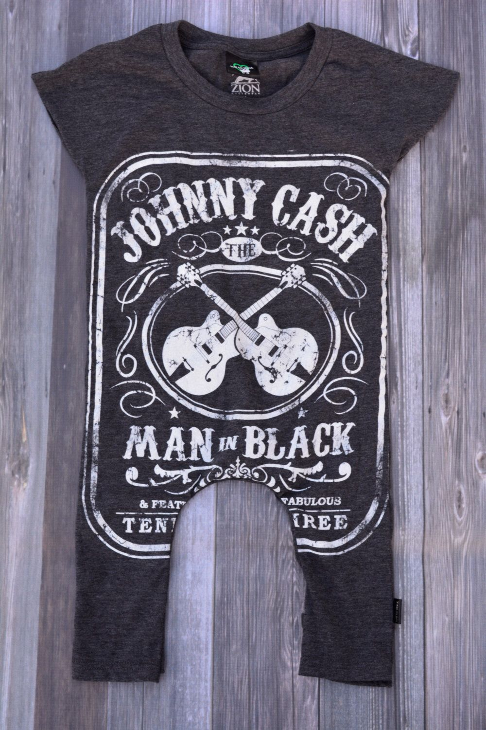 Black t shirt for toddler - Tshirt Romper For Baby Toddler Johnny Cash Man In Black