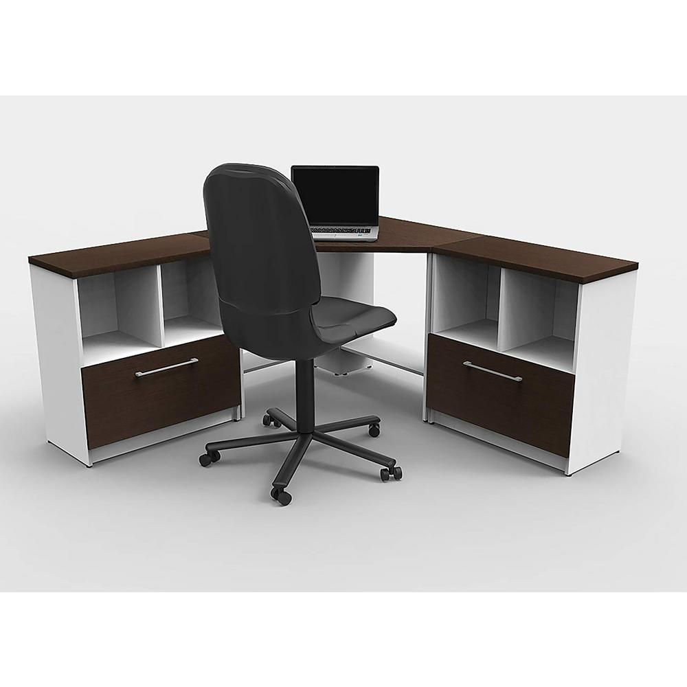 Ameriwood Home Marston White L Shaped Desk Hd20385 White L Shaped Desk Home Desk White Desks