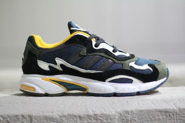 adidas Originals Temper Run Olive Navy Sunflower Baskets