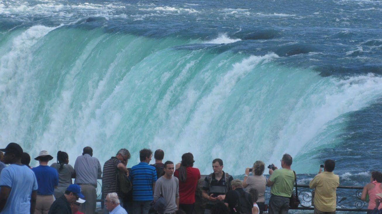 Niagara Falls Ontario Canada View From Promenade Hornblower Boat Cruise Niagara Falls Niagara Falls Canada Niagara Falls Ontario