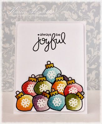 Card by PS GDT Karin A. using the PS Merry Motifs stamp set