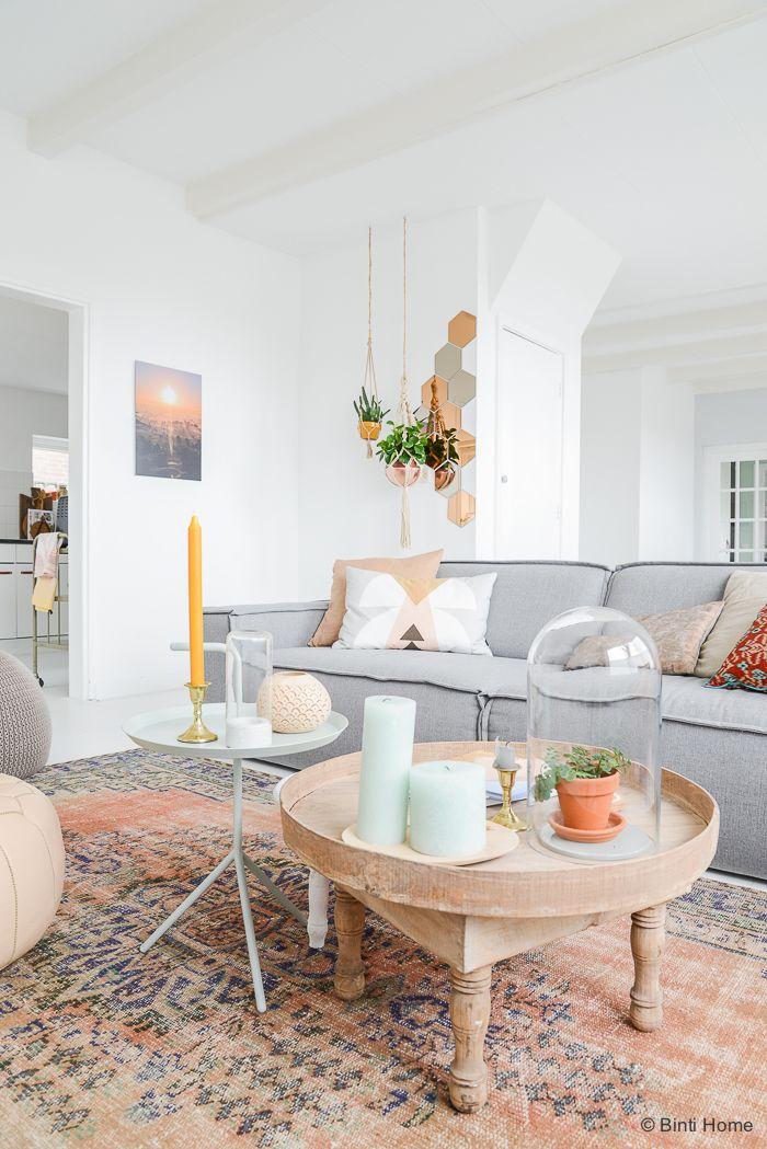 Livingroom I Wohnen, Wohnzimmer, Grau, Natur, Puder Samraa - Wohnzimmer Grau Orange