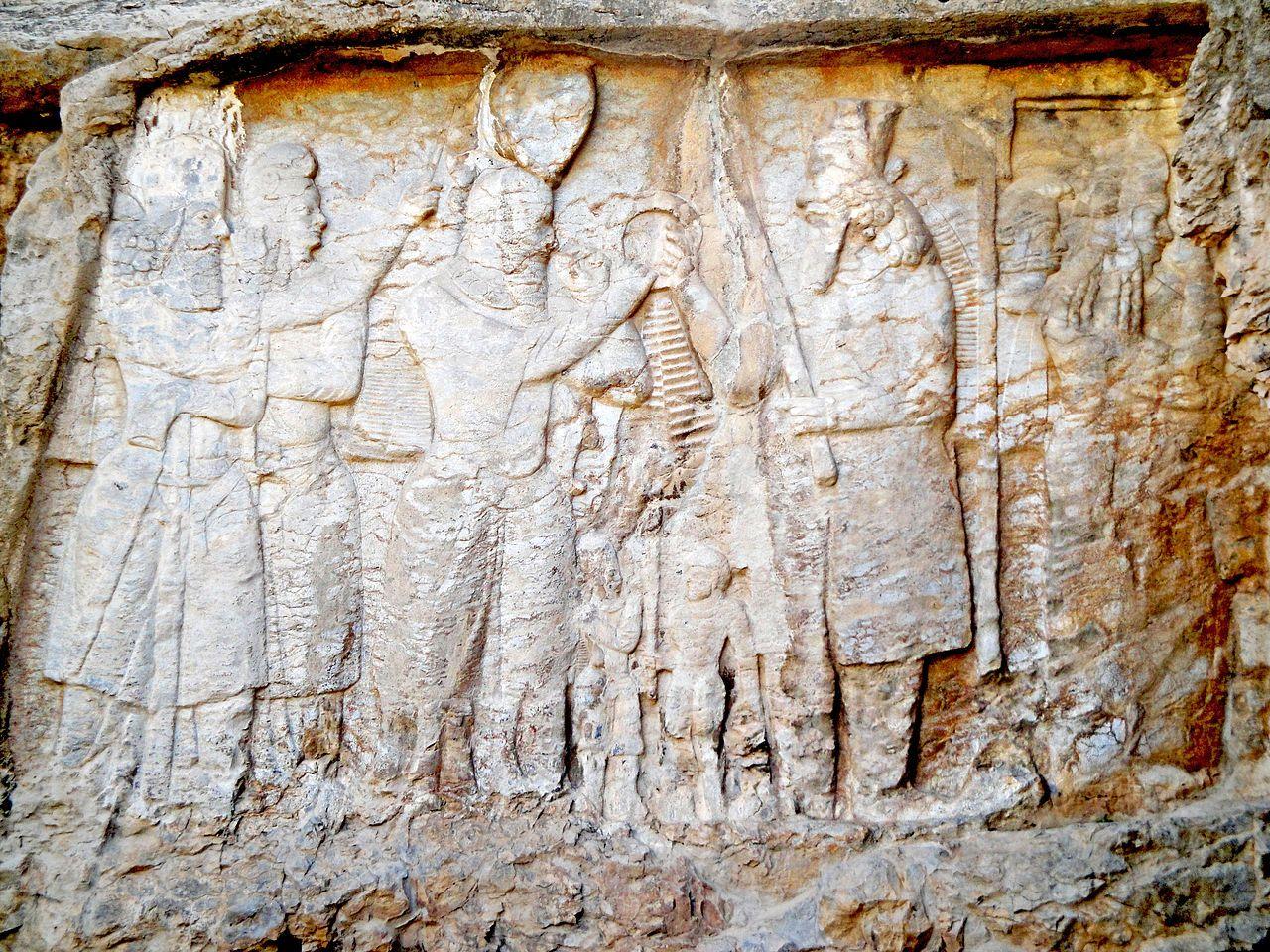 Sasanian Empire  -  Ardeshir Babakan and Ahuramazda at Naqsh Rajab, Iran.