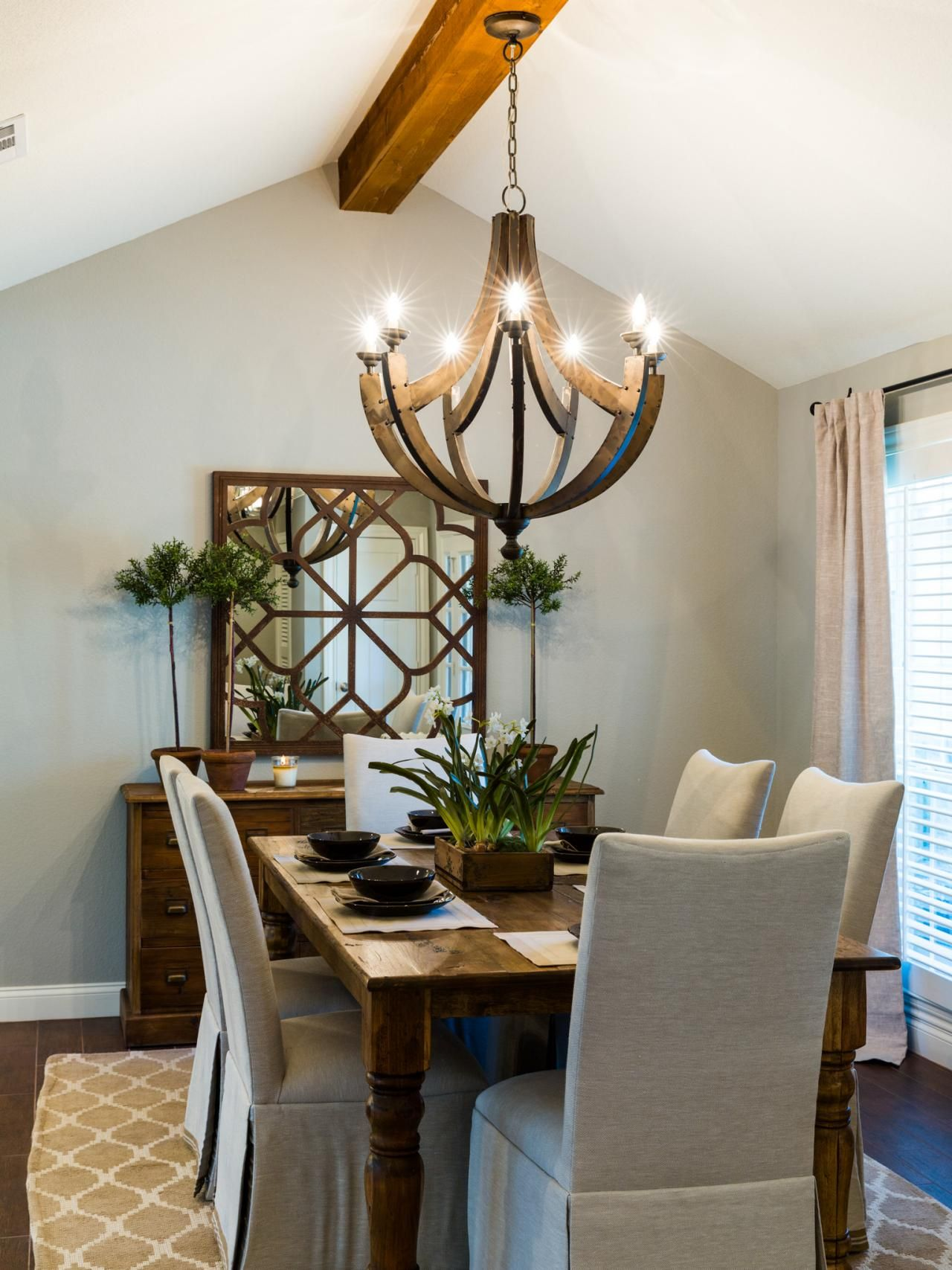1968 Fixer Upper In An Older Neighborhood Gets A Fresh Update Wooden ChandelierWine Barrel ChandelierChandelier IdeasDining Room ChandeliersDining