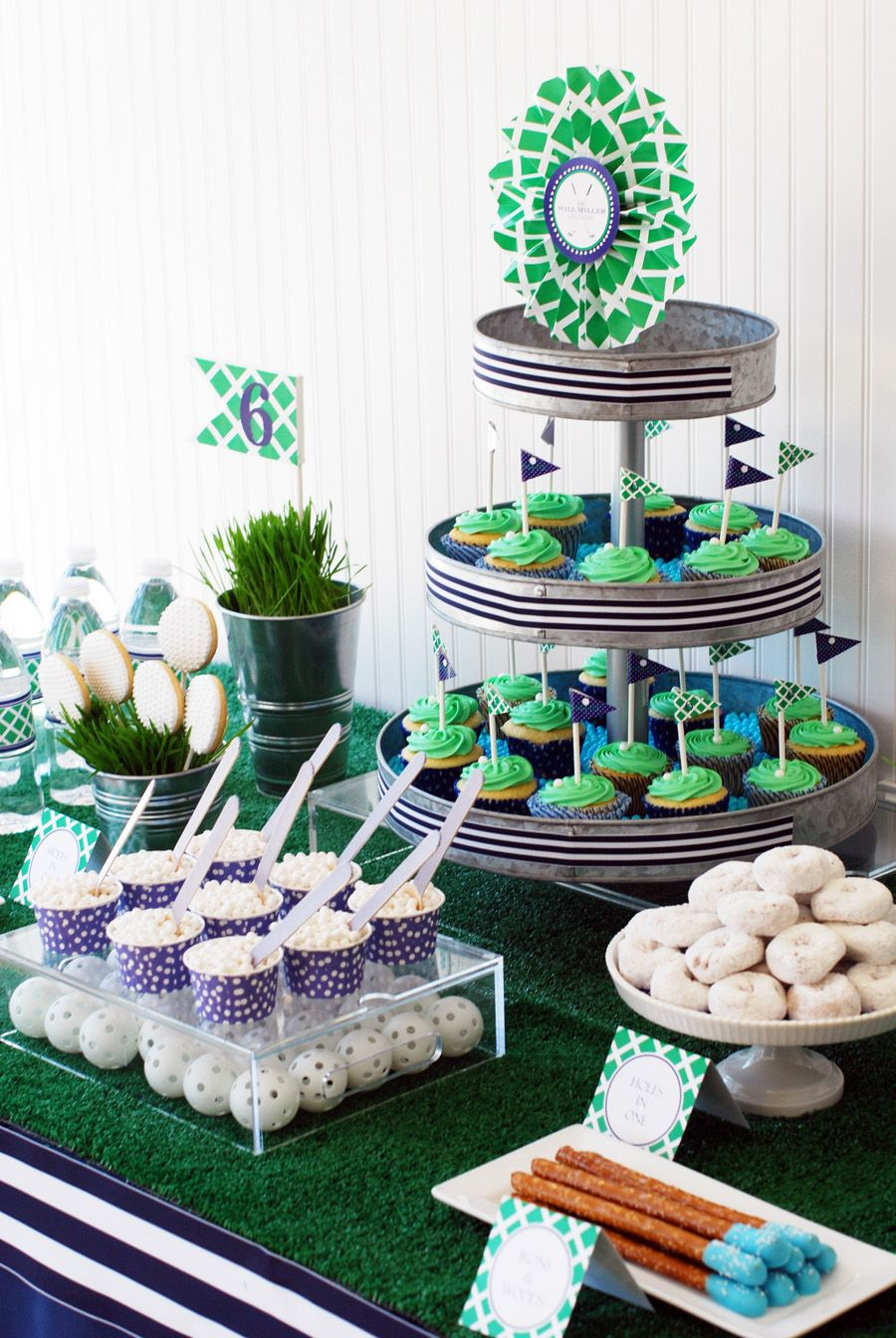 Prime Preppy Golf Birthday Party Dessert Table Whhostess Golf Home Interior And Landscaping Pimpapssignezvosmurscom