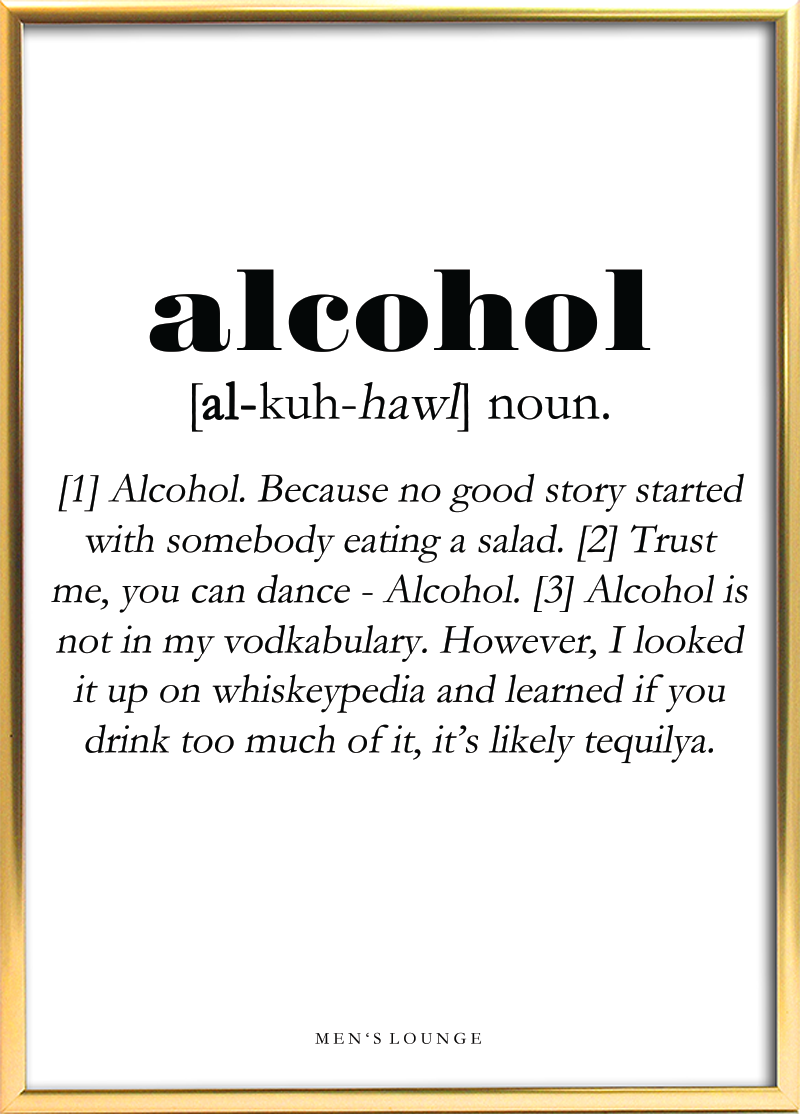Alcohol Definition | Humoristiske citater Sjove citater ...