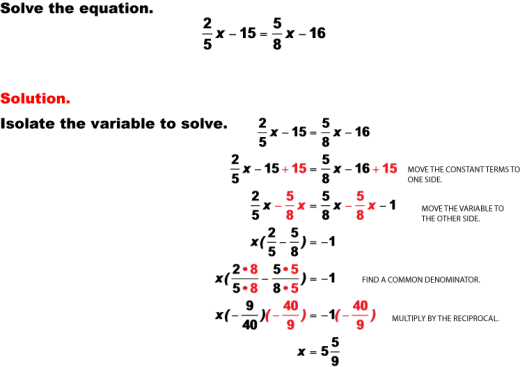 how to isolate a variable in the denominator