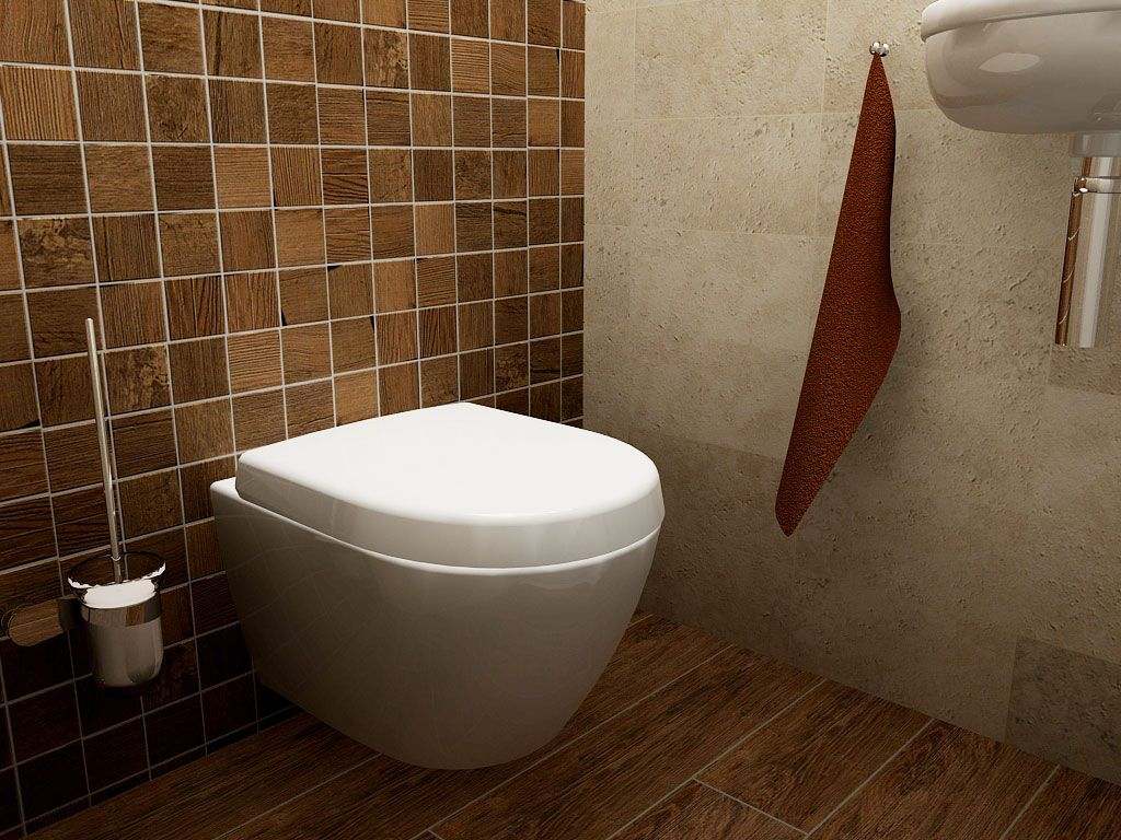 Wc met keramisch natuursteen moza ek tegels op de achterwand toilet ontwerpen pinterest - Wc tegel ...