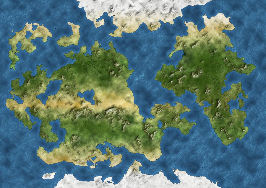 This map shows the continent of sangravia with the empire of the fantasy map gumiabroncs Images
