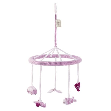 Babyzimmer Häkelmobile rosa Ø 22cm