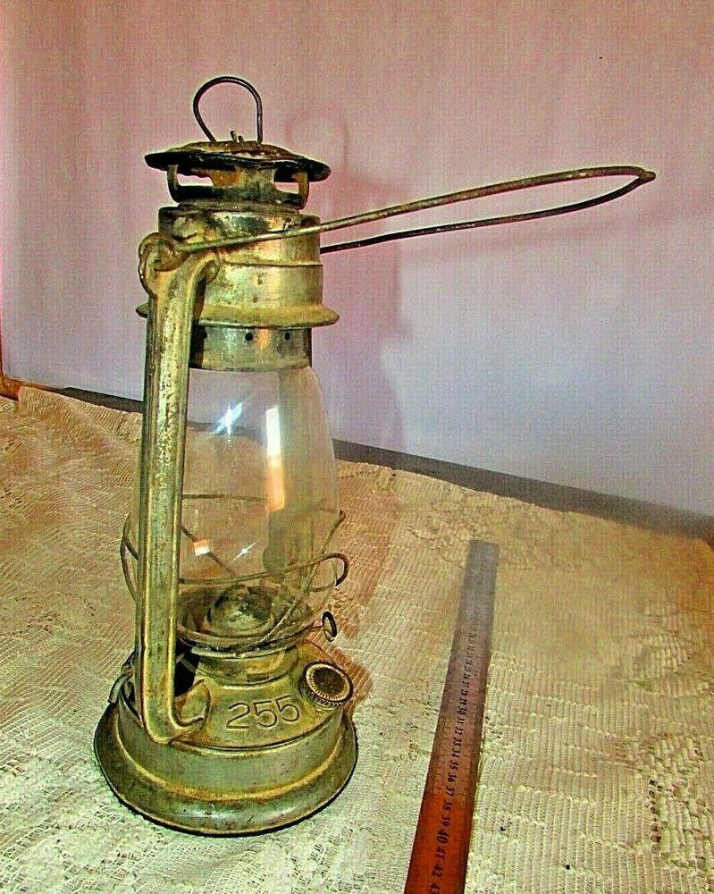 Vintage oil lamp number 255/ light kerosene oil lamp